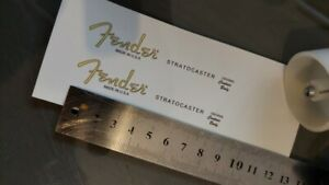 FENDER STRATCASTER Guitar Headstock Style Decal Waterslides x 2