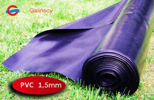 "Teichfolie PVC 1,5mm ""FOLGAL-1"" 5,99€/m2 Gartenteich folie viele Größen wählbar"