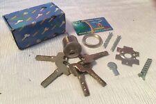 Yardeni Cylinder High Security Rim/Mortise W/5 Keys Silver,mul-t-lock style.