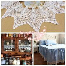 """8""""*1Y Vintage Hand Crochet Lace Trim~White~Cotton~ROSE~Victorian Elegance~"""