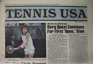 Tennis USA Volume 2 No. 17 Vintage USTA Publication McEnroe Borg Martina Chris