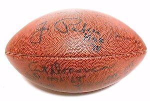 Lenny Moore Raymond Berry Art Donovan Jim Parker Signed Autographed Football HOF