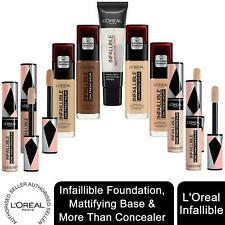 1x or 2x LOreal Paris Infallible 24H Liquid Foundation, Concealer or Base, 30ml