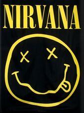 Nirvana Flag Smiley Black Textile 77 x 105cm