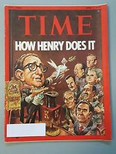 Time Magazine April 1 1974 How Henry Does It The Great Henry Kissinger - Weekly
