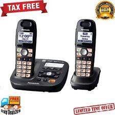 Panasonic DECT 6.0 Plus 2-Handsets Cordless Phone Digital answering machine