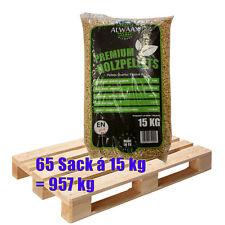 Holz-Pellets 65 Sack á 15 kg = 975 kg Pellet 6mm Heizpellets A1 Brennstoff