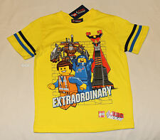 The Lego Movie Boys Yellow Extraordinary Printed Short Sleeve T Shirt Size 4 New