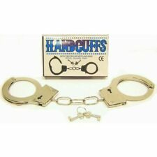 Stainless Steel Metal Handcuffs Toy Handcuff Prop with Keys for Cosplay Police