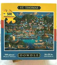 """Dowdle Folk Art Puzzle ~ """"St.Thomas"""" ~ 500 Pieces ~ New in Factory Sealed Pkg"""