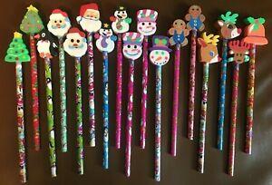 New RARE 1990s Vintage Lisa Frank Christmas Holiday Unsharpened Pencils