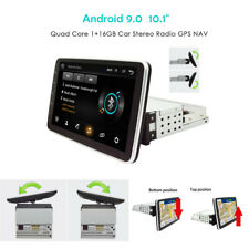 "[ NEW! ] 1Din Android 9.0 10.1"" Screen Rotatable 4-Core Car Stereo Radio GPS NAV"