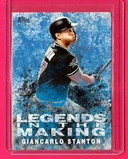 2018 Topps Series 1 Legends in the Making Giancarlo Stanton Blue Parallel Mint
