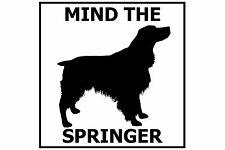 Mind the English Springer Spaniel - Gate/Door Ceramic Tile Sign