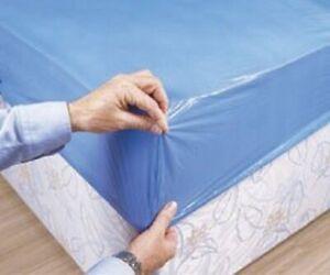 10 coprimaterassino lettino impermeabile in PE azzurro
