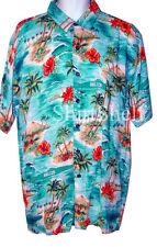 $135 New Neiman Marcus Belize Palm Tree Floral Hawaiian SS Shirt Men XL X-Large