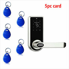 Digital Electronic Code Keyless Keypad Security Entry Door Lock 5 RFID Card Tag