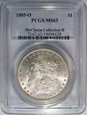 1885 O Silver Morgan Dollar PCGS MS 63 McClaren Hoard Collection Coin Pedigree