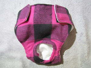 Female Doggie Diapers - Pat's Canine Accessories/COZY FLANNEL/Reg/Cust Fit/USA -