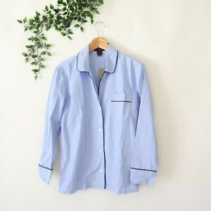 NEW J.Crew Women's Vintage Style Pajama Top Size PXS Petite Extra Small Blue