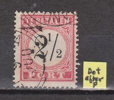 Port nr.5 A type 3 used PLAATFOUT PLATEFAULT Netherlands Indies Nederlands Indie