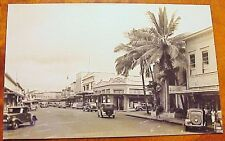 1930's Hilo Electric Light Co. First Hawaiian Bank TH Hawaii RPPC