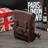Men's Vintage Leather Backpack Shoulder Briefcase Laptop Casual Travel Bag