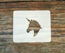 Unicorn Small Face Painting Stencil 7cm x 6cm 190 Micron Lavabile Riutilizzabile MYLAR
