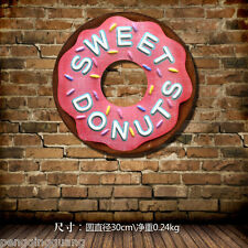 Sweet Donuts Metal Tin Signs Dessert Shop Hanging Bakery Wall Decor Poster
