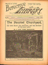 dime novel; DETECTIVE LIBRARY #371: The Haunted Churchyard; or, Old King Brady