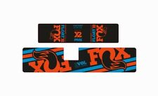 FOX Float X2 Rear Shock Suspension Sticker Factory Decal Adhesive Orange Blue