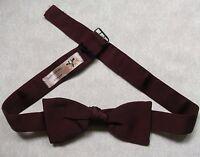 Bow Tie Vintage SILK Mens Dickie Bowtie AKCO BURGUNDY 1950s 1960s