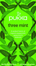 Pukka Tea Three Mint Organic Herbal 20 Teabags