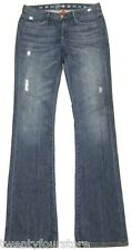 Earnest Sewn Jeans Keaton Bootcut in Midland Distressed Blue sz 27 EXTRA LONG
