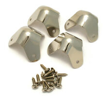 099-1350-000 (4) Genuine Fender Nickel AMP Amplifier Corners 3 Screw Mount