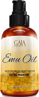 Emu Oil 100% Pure - Large 4oz - Best Natural Oil For Face, Skin, Hair