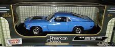 1970 Ford Mustang Boss 429 Fastback Die-cast Car 1:18 Motormax 10 inches Blue
