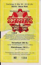 SCORPIONS & Lucifer's Friend Used Ticket Berlin 03.05.1980