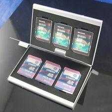 Chic Aluminum 6x SD SDHC MMC Memory Card Storage Box Case Holder for Canon Nikon
