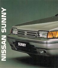 Nissan Sunny Hatchback Coupe Estate 1989 UK Market Foldout Sales Brochure