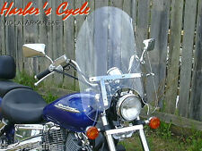"VT600 Honda Shadow VT/VLX 600 - clear 22"" touring windshield w/chrome hardware"