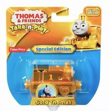 Thomas And Friends GOLD 70th Take N Play Diecast Special Edition Rare NEW!