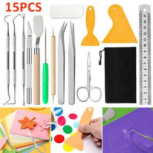15pcs/set Craft Vinyl Weeding Tools Basic Set for Silhouettes Cameos DIY Kit