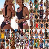 Women's High Waist Bikini Set Swimwear Swimsuit Ladies Beach Dress Bathing Suit