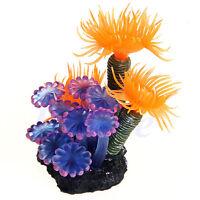 Realistic Aquarium Fish Tank Sea Artificial Fake Coral Plant Ornament Deco UKPL