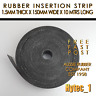 RUBBER INSERTION STRIP 1.5 MM THICK X 150 MM W X 10 METRES LONG COIL  HYTEC