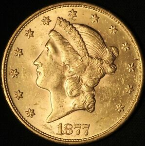 1877-S $20 Gold Liberty Double Eagle - Type III - No Reserve  - Free Ship USA