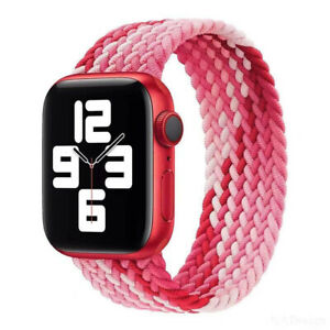 For Apple Watch Braided Solo Loop Band Strap 40/42/44mm iWatch Series 6 5 4 3 SE