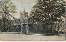 SCARCE OLD POSTCARD - ALL SAINTS CHURCH - HUNTINGDON C.1910