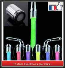 Robinet-mitigeur embout raccord  lumiere LED - 7 couleurs  + joint filtre